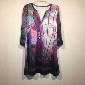 Lily by Firmiana Stained Glass Tunic Dress 3X